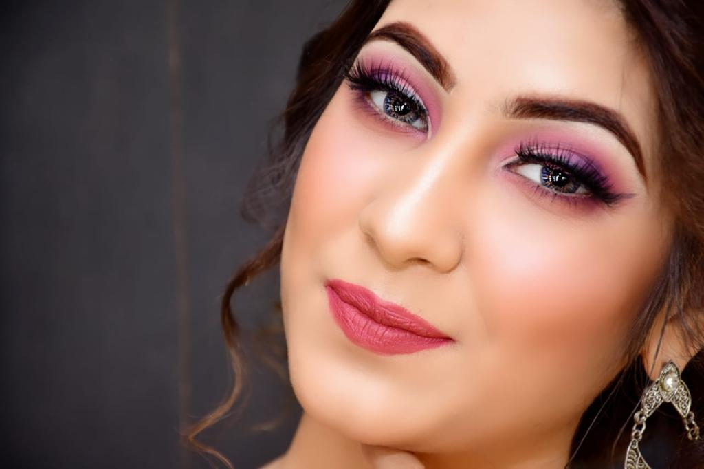 flawless makeup with statement eyes