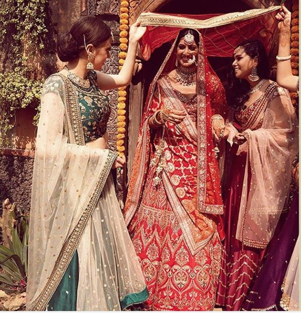 Indian Bridal Entry With Bridesmaids