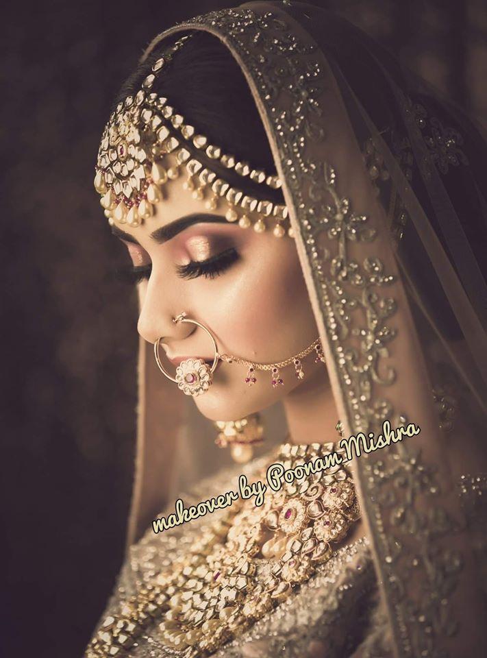 Nude Golden Bridal Makeup