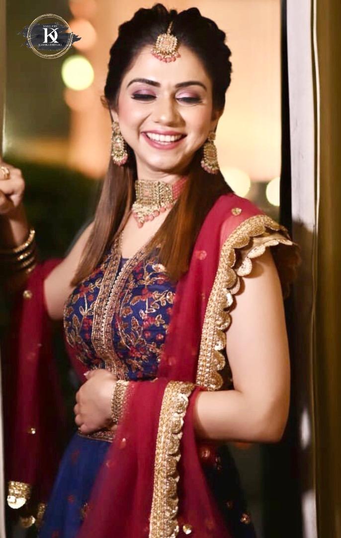 happy bride posing