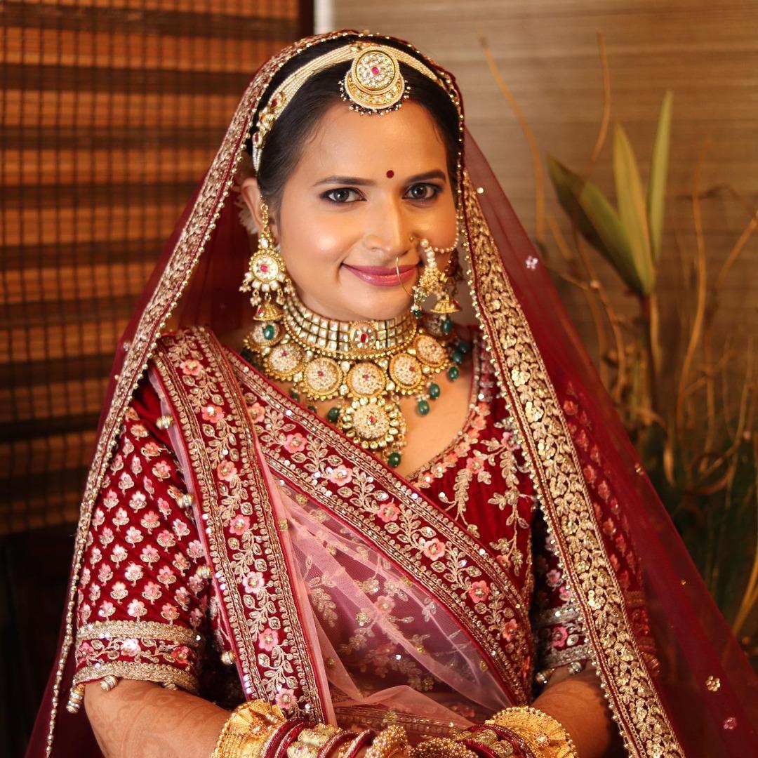 rajasthani bride in natural bridal makeup