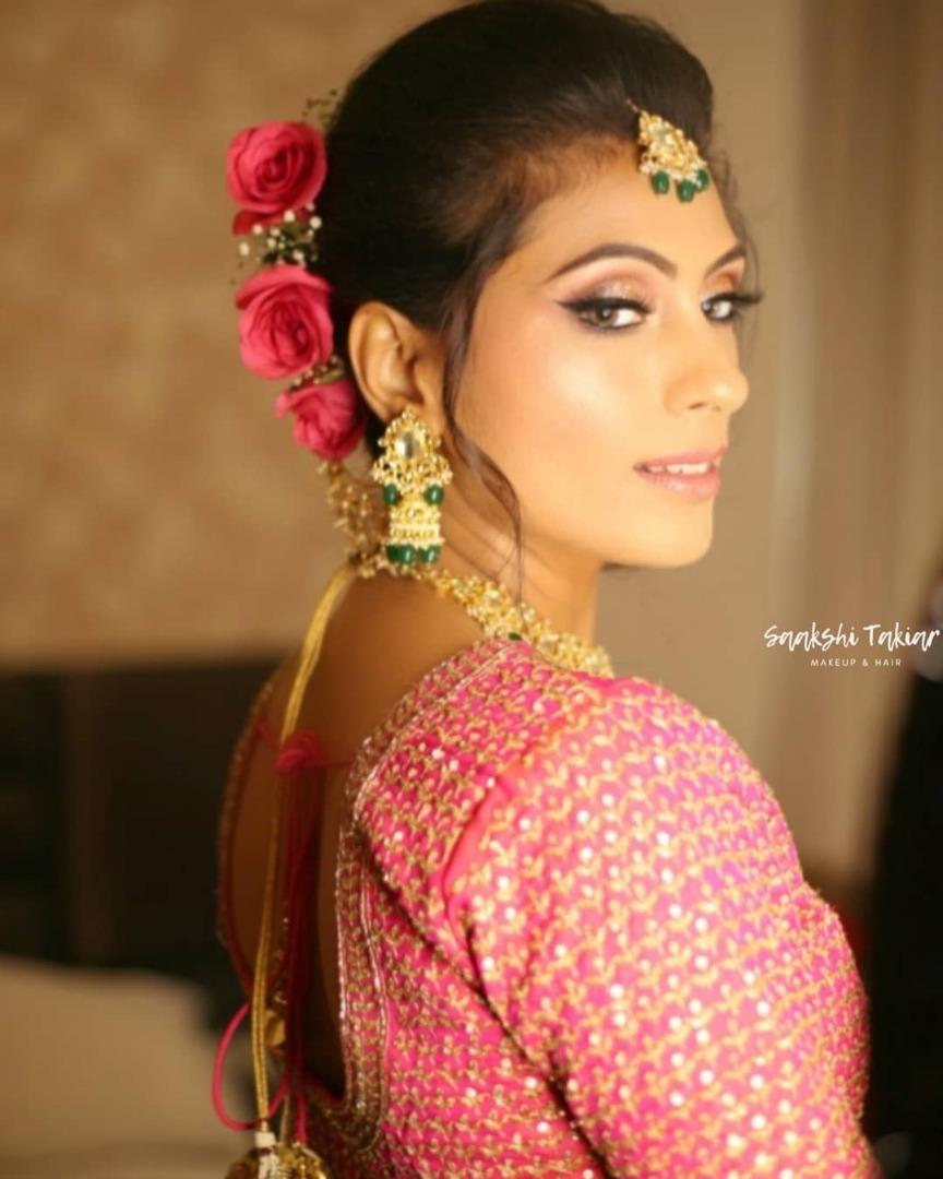 Bridal Closeup in Pink Makeup