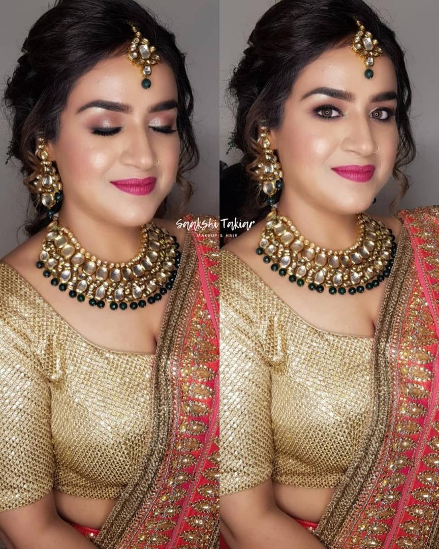 Glam Indian bridal makeup look