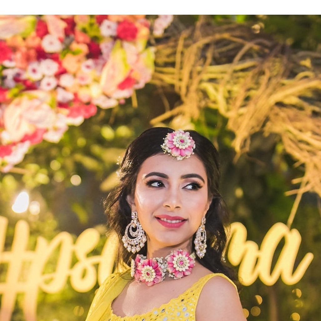 Haldi Ceremony makeup look