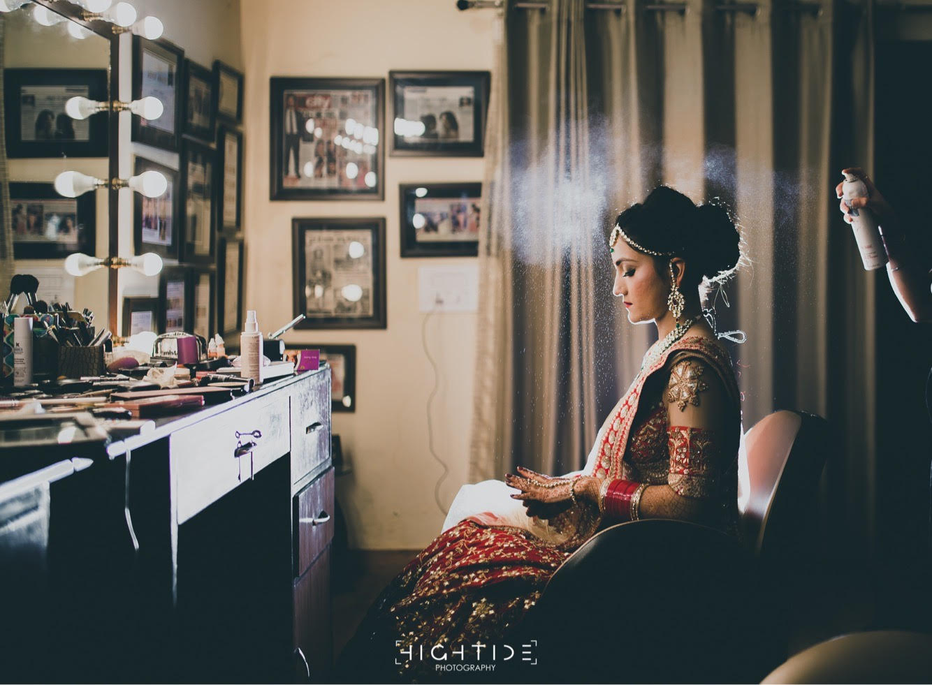 Beautiful Bride Getting Ready