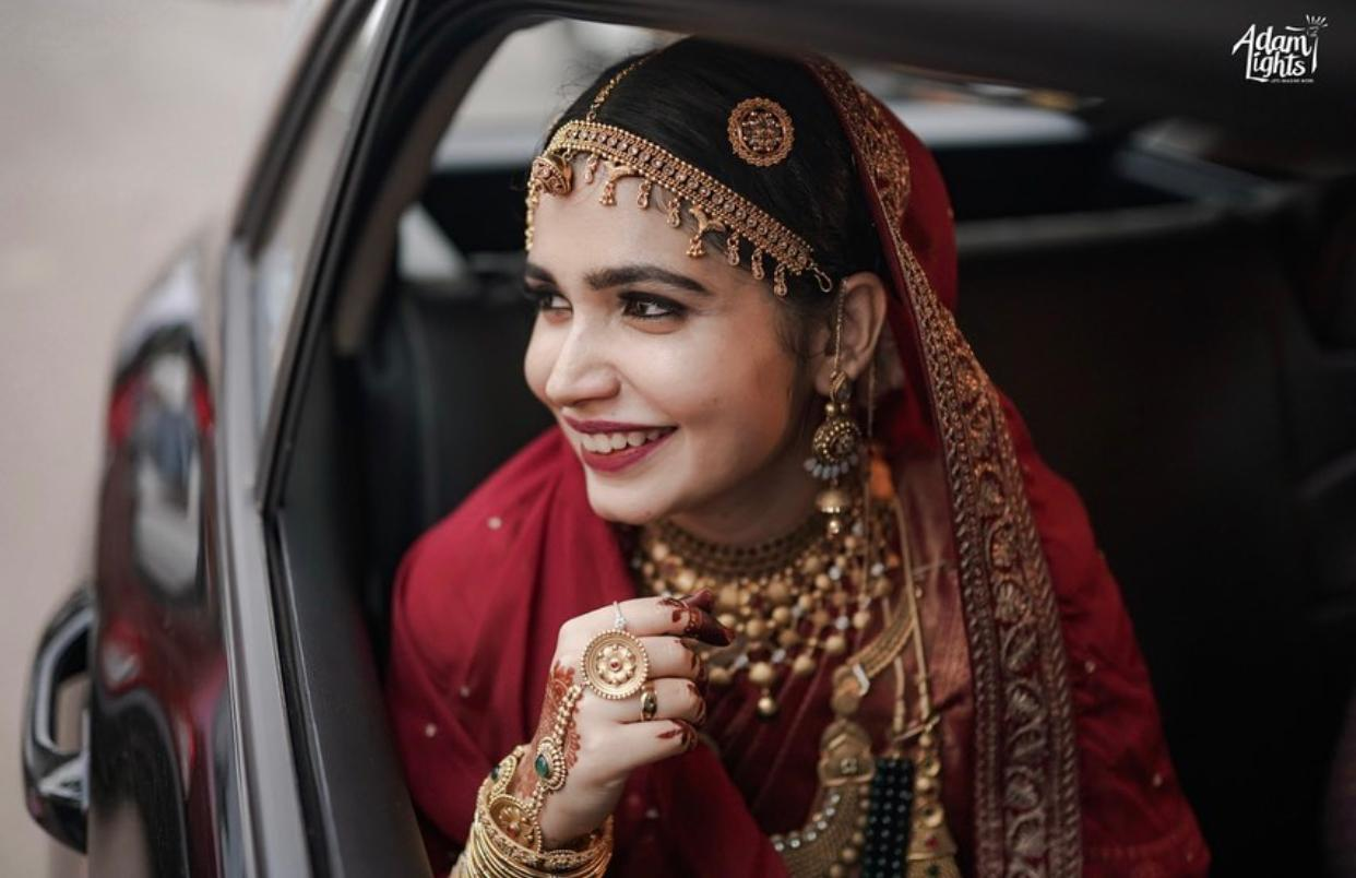 bride with a minimal natural makeup