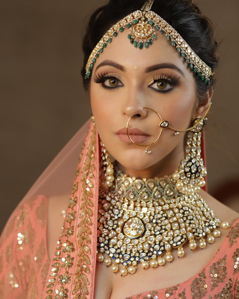 nude makeup for the bride