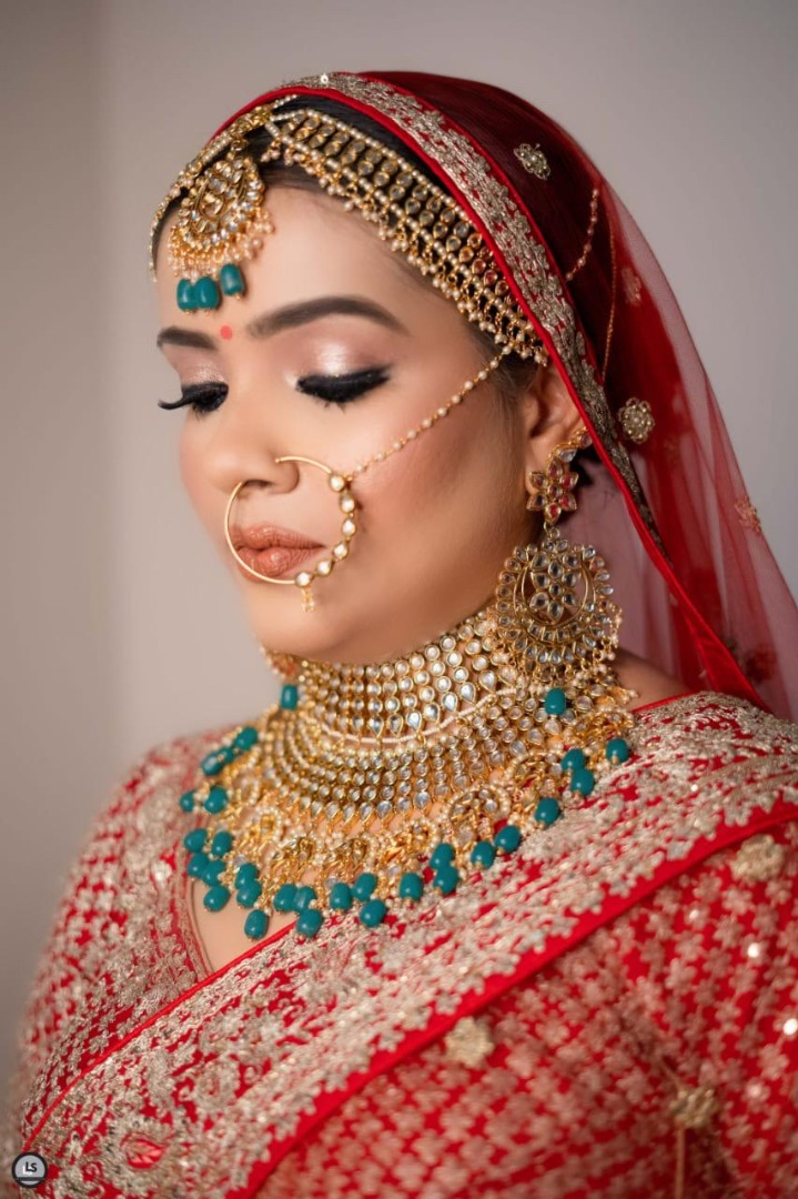 dewy bridal makeup