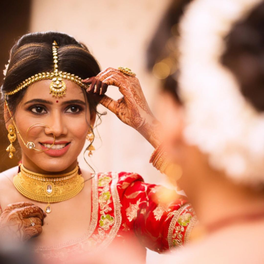 Traditional natural bridal makeup