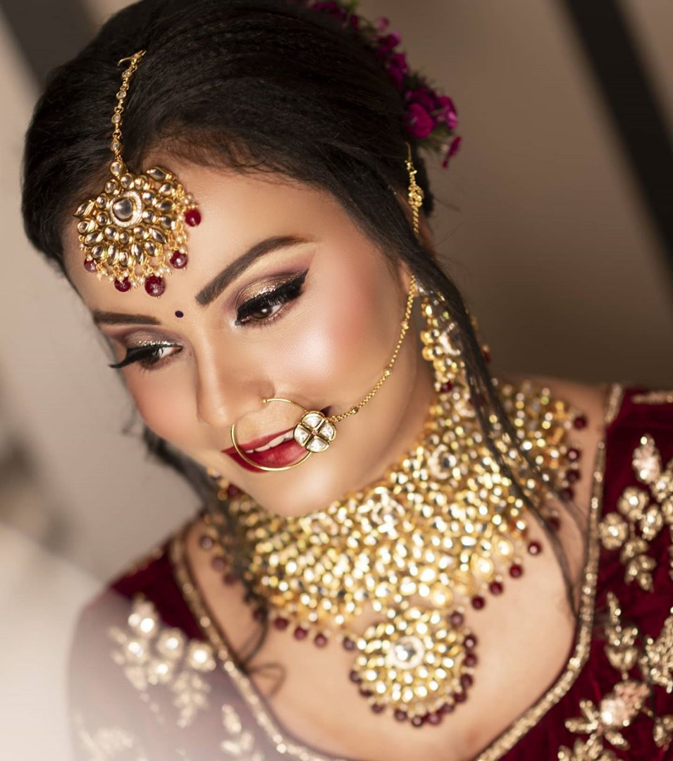 Bridal Airbrush Makeup and hairstyle