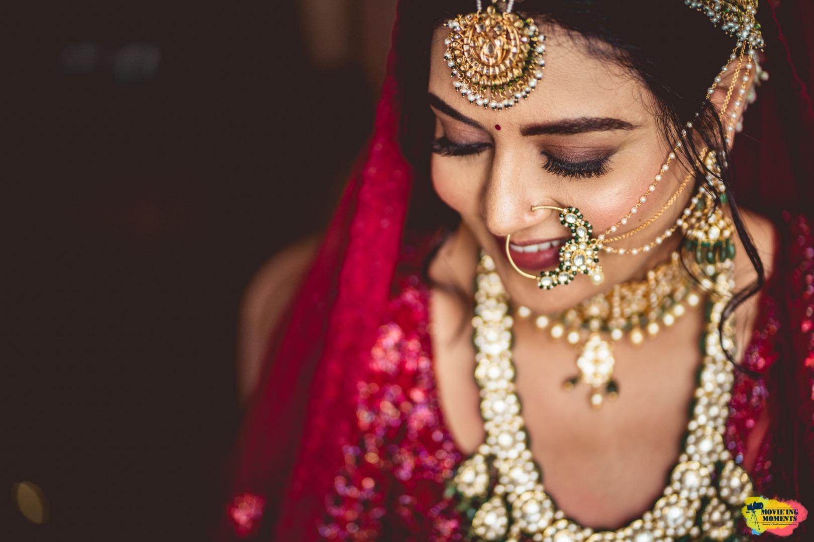 beautiful shot of the happy bride