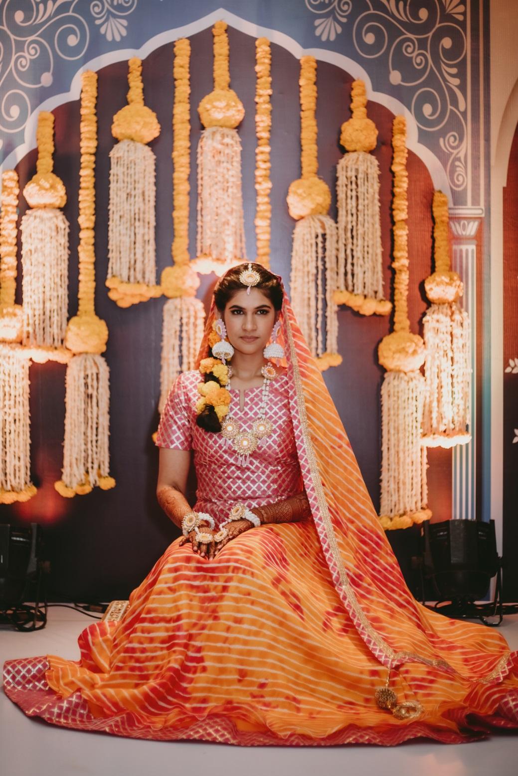 Muslim bride haldi outfit
