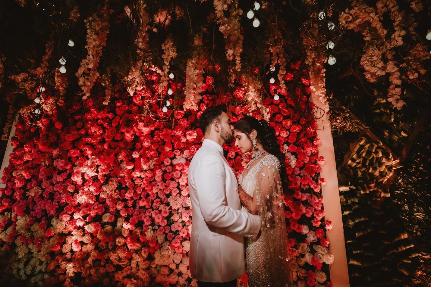 Muslim reception bride and groom