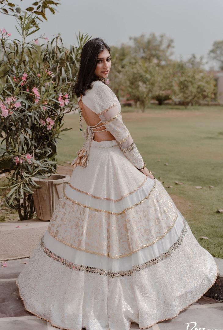 punjabi bride in a yellow sharara