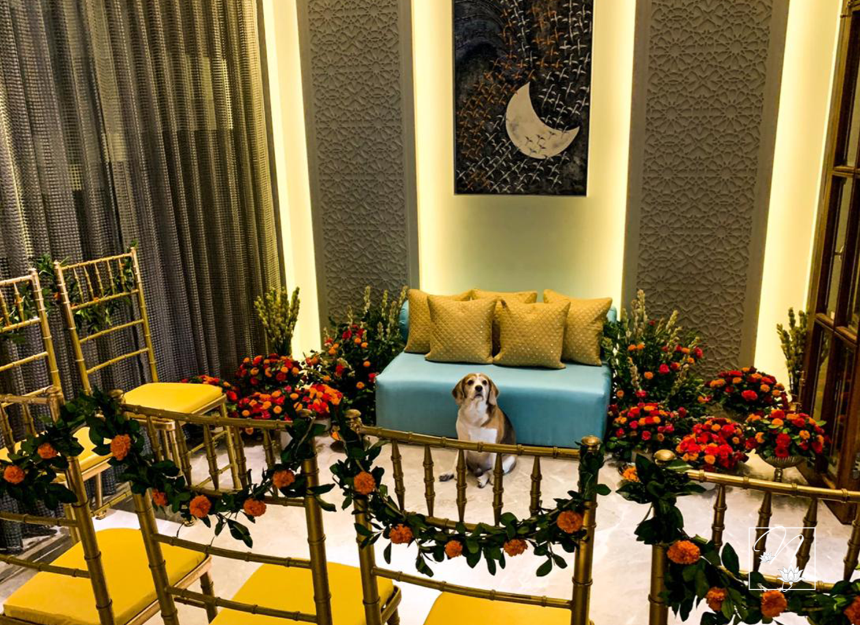 marigold indoor wedding decor