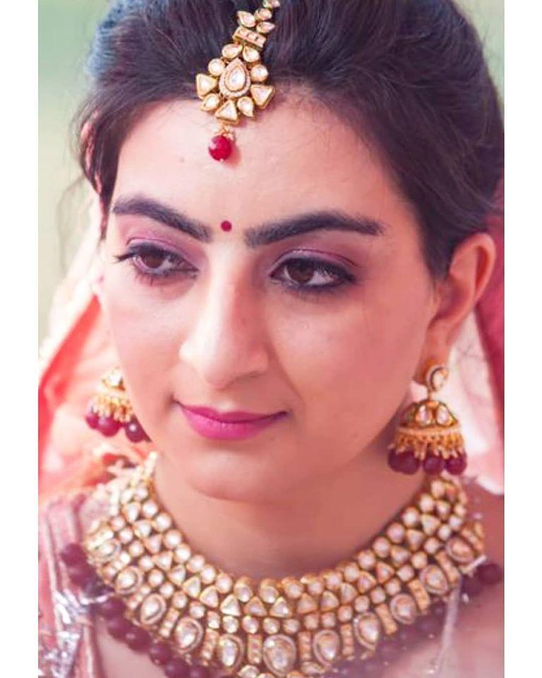 Light Pink Indian Bridal Makeup