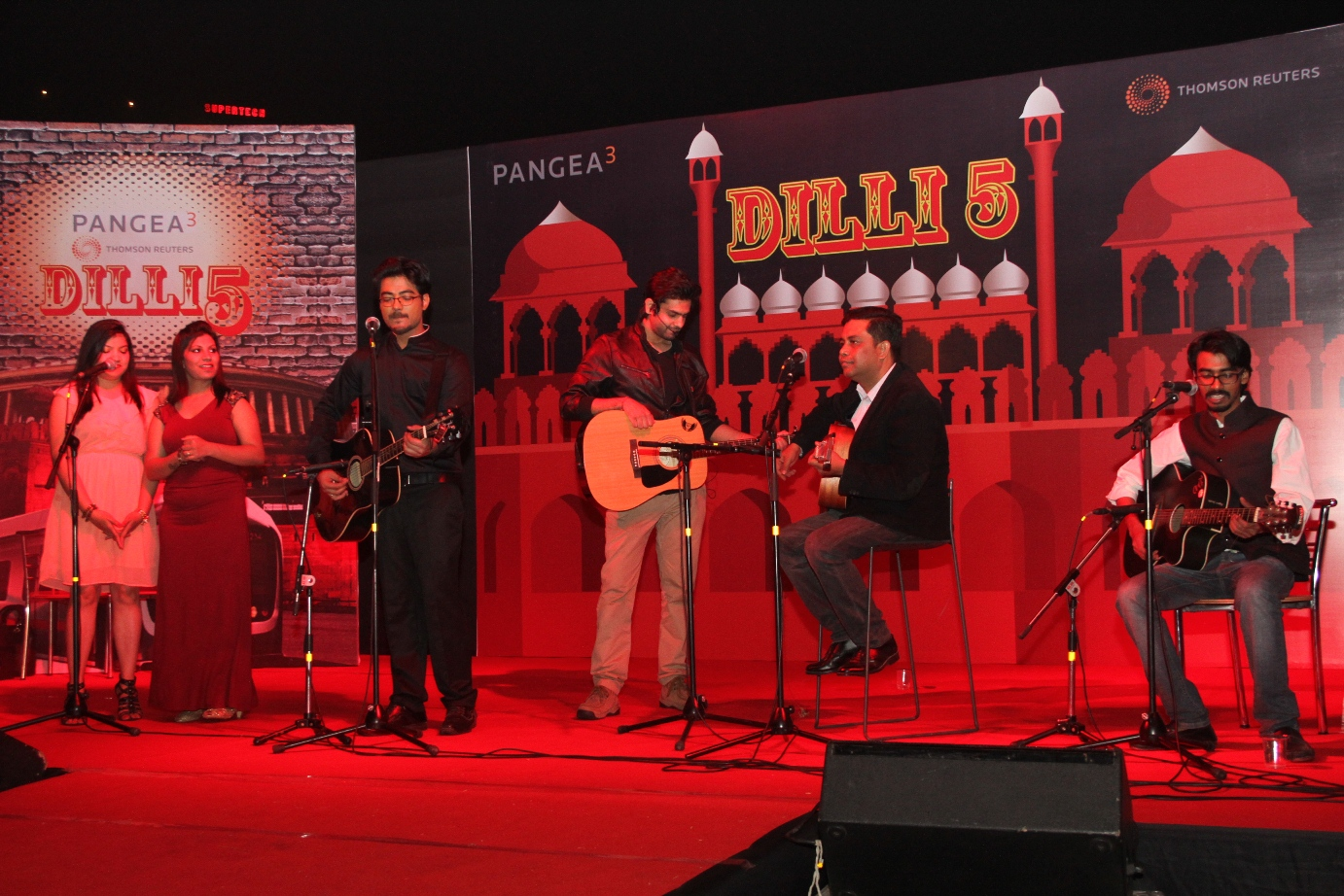live band performing at an event