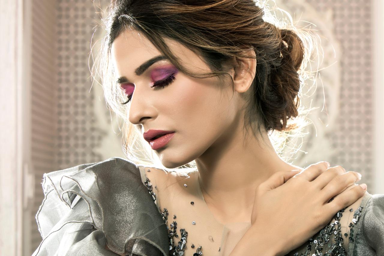 pink ombre eye makeup
