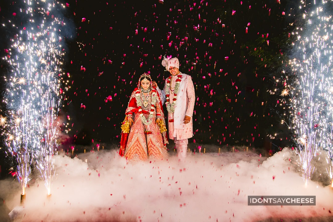 beautiful couple entry