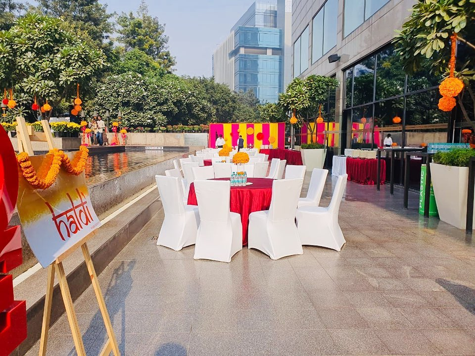 haldi venue wedding decor design