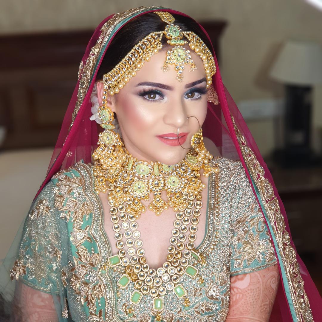 Beautiful Airbrush Makeup on Indian Bride