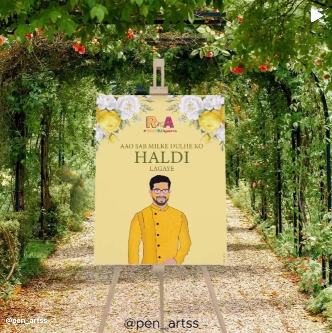yellow haldi invite