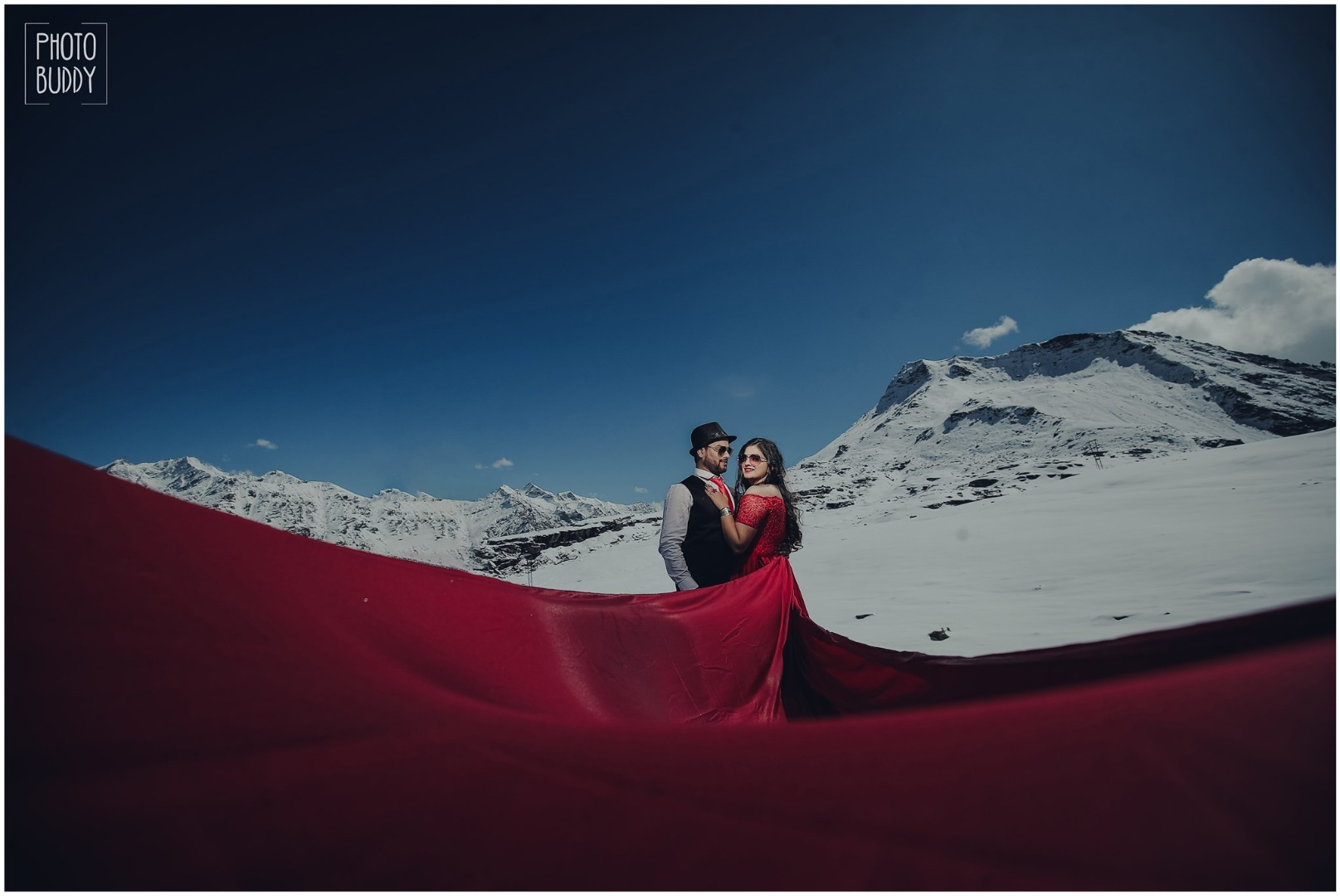 Couple Portrait in Mountains