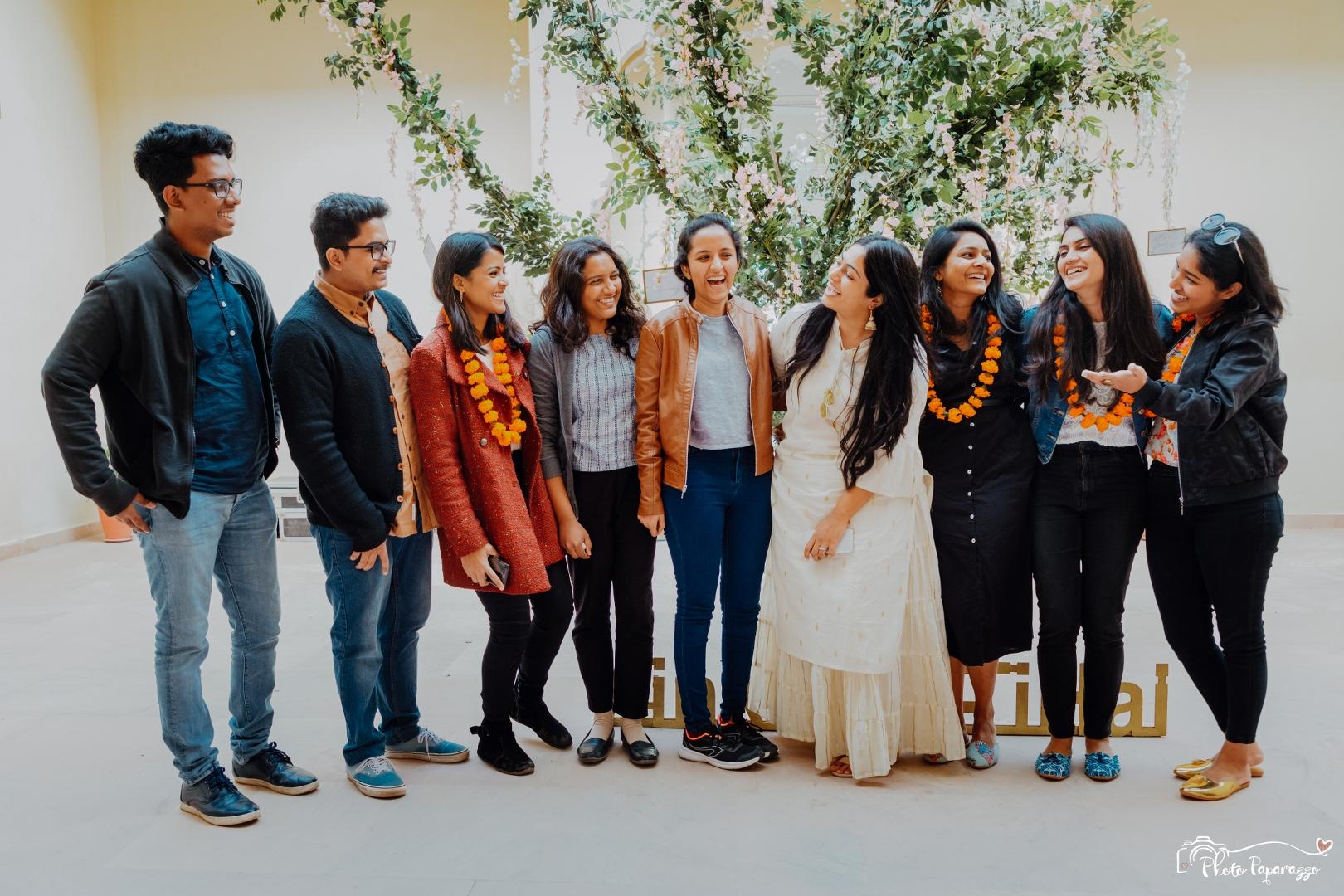 Bride Welcomes Friends