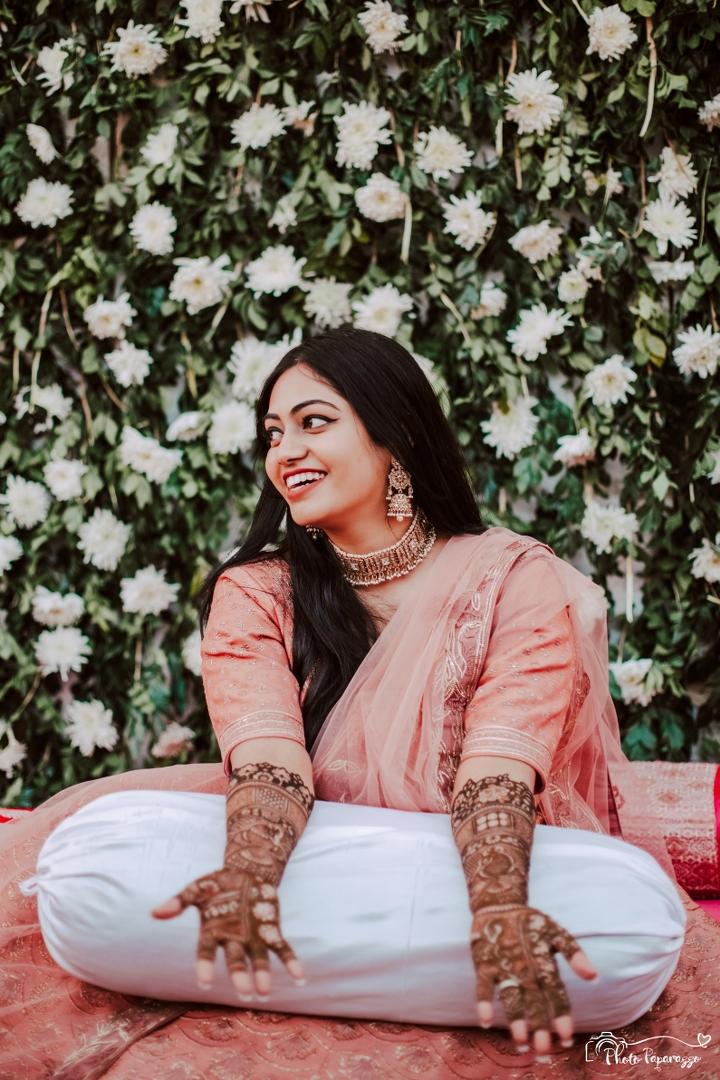 Bride Portrait at Mehendi Function