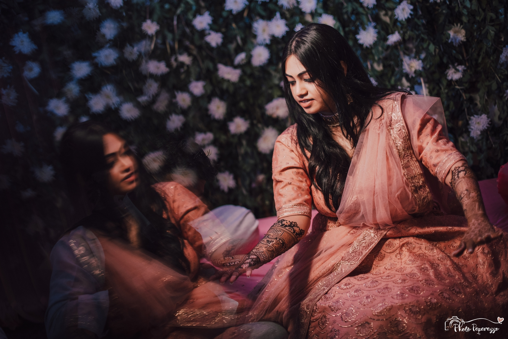 Beautiful Bride at Mehendi Ceremony