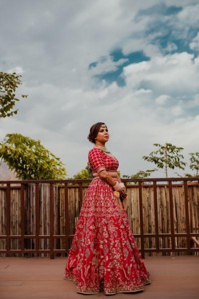 Pink bridal lehenga