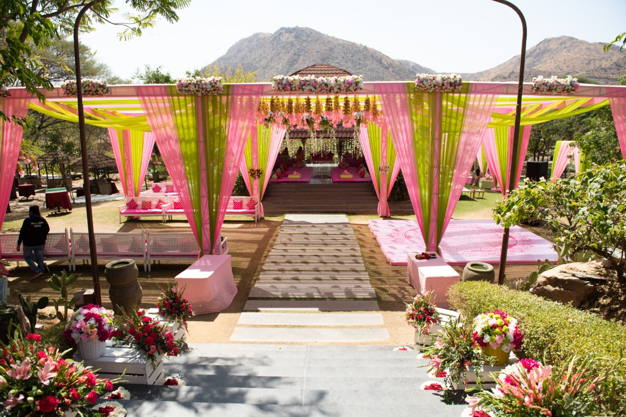 Pink themed decor