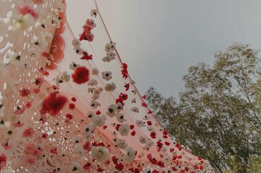 Pink themed wedding decoration