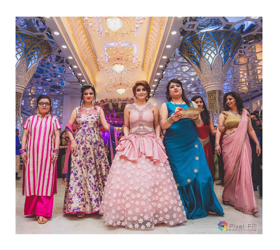 Bridal Entry with Bridesmaids