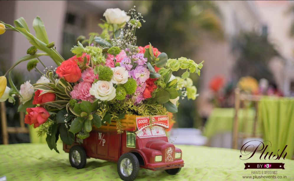 Floral Truck Table Centrepiece