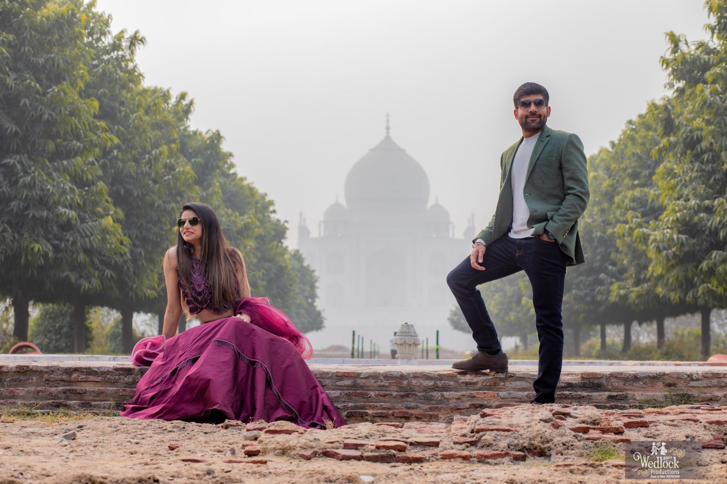 Pre wedding shoot at taj