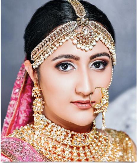 soft pink nude bridal makeup