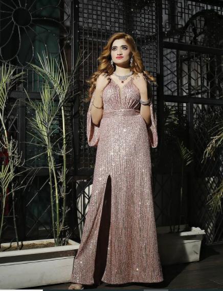 stunning glimmer gown