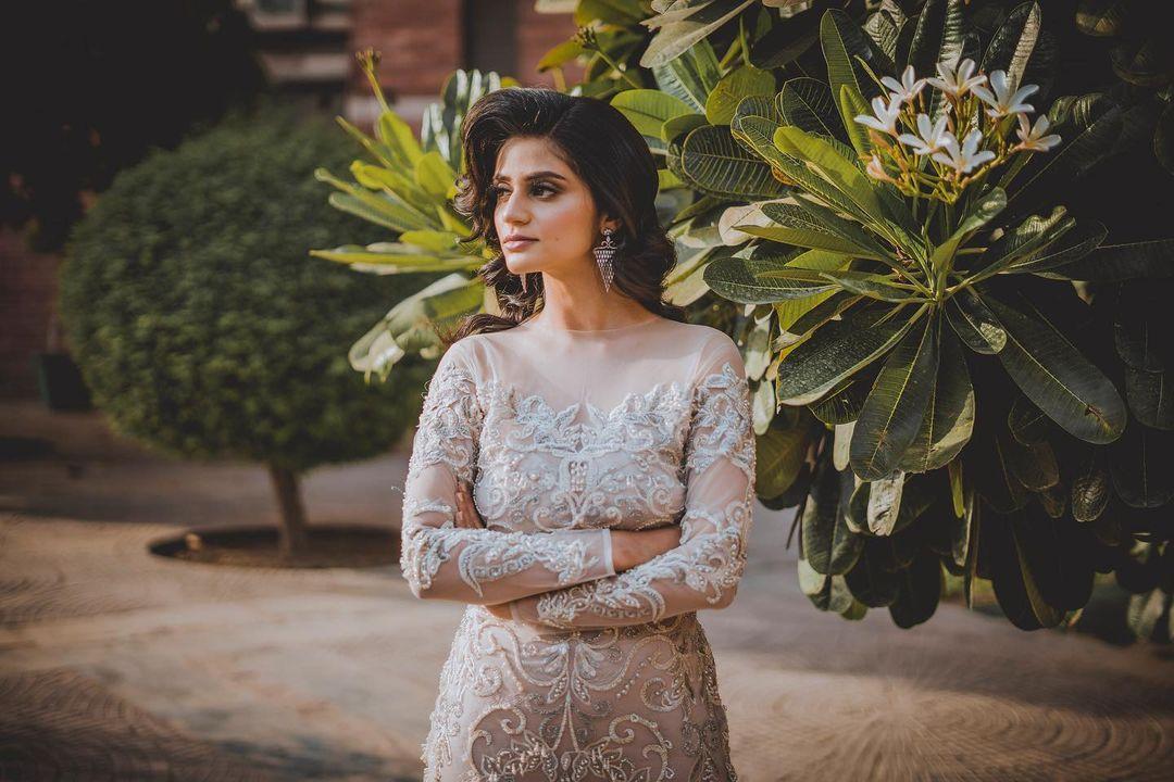 bride in white gown