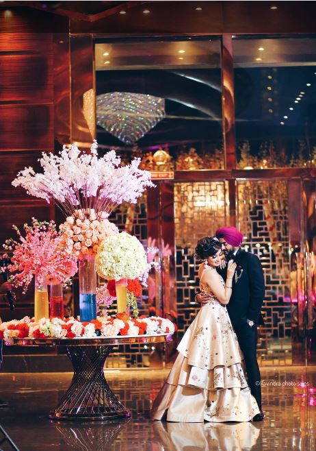 Sikh Bride & Groom Reception Ceremony Picture