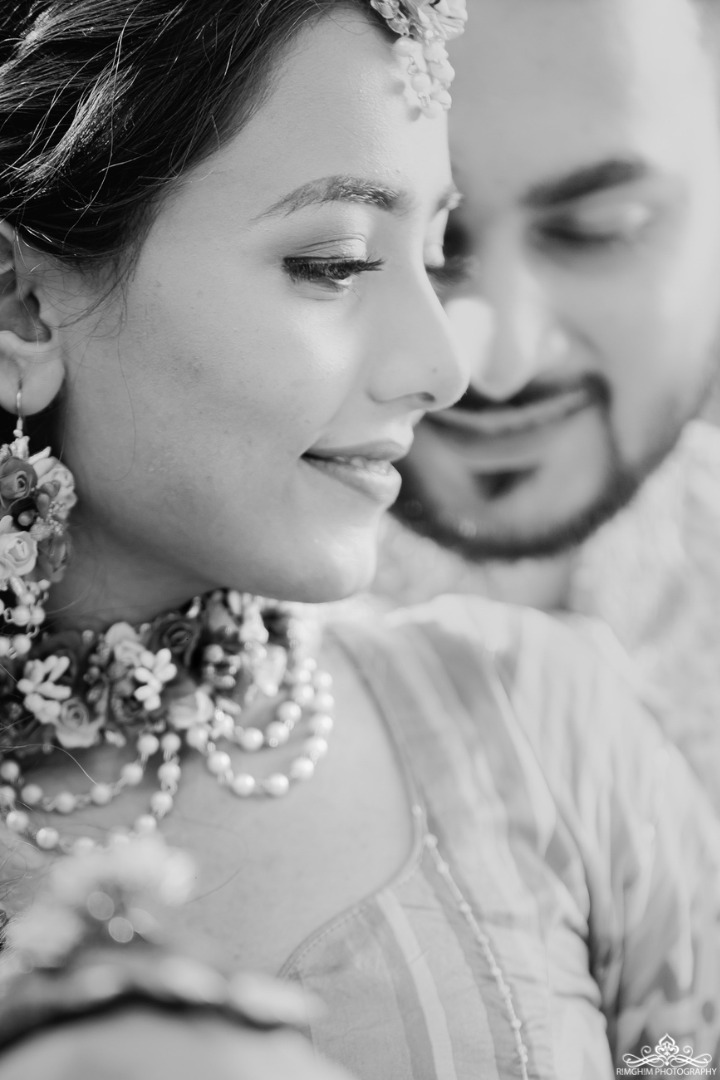 Black and White Indian Wedding Couple Images