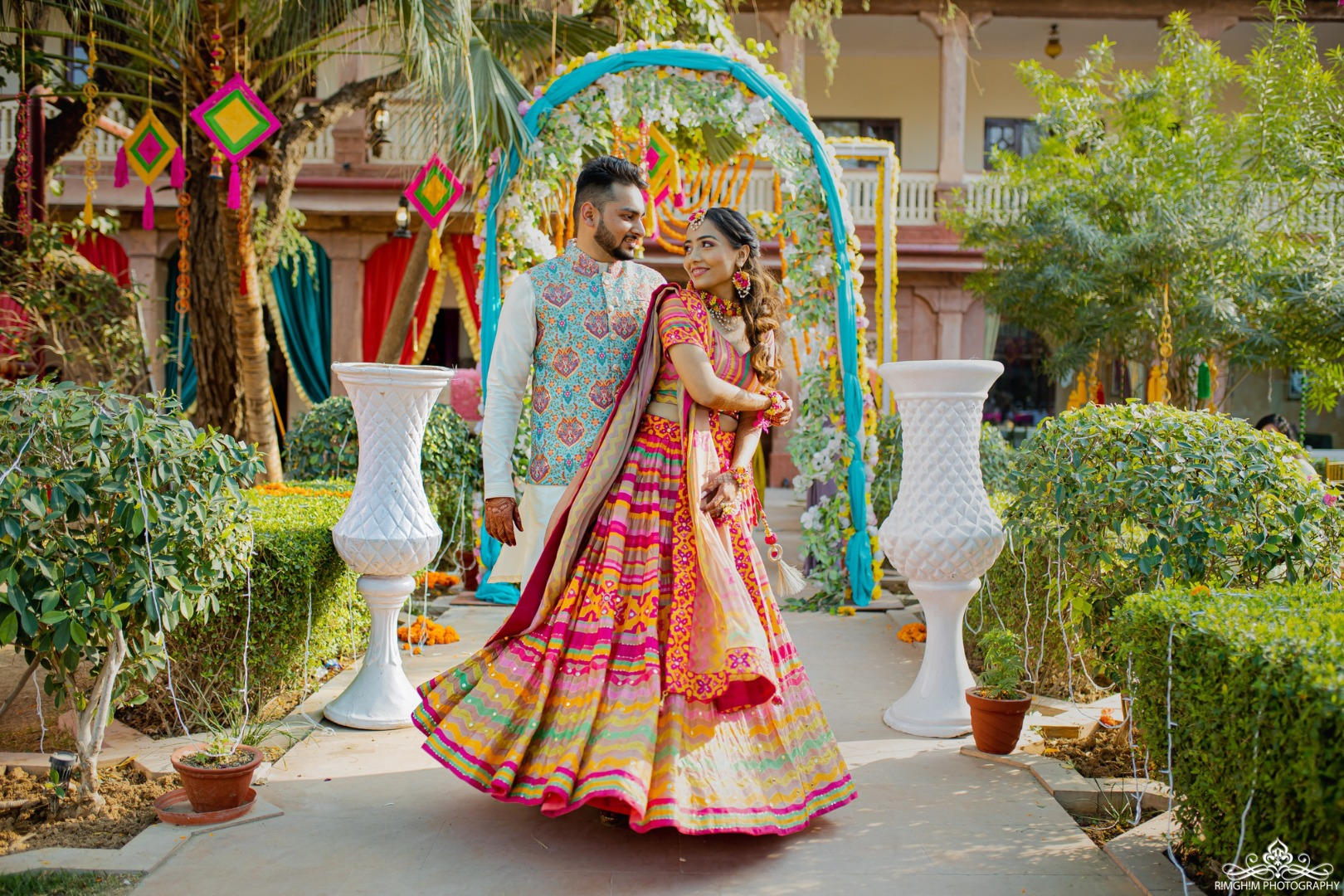 Colourful Sangeet Outfit Ideas for Bride and Groom