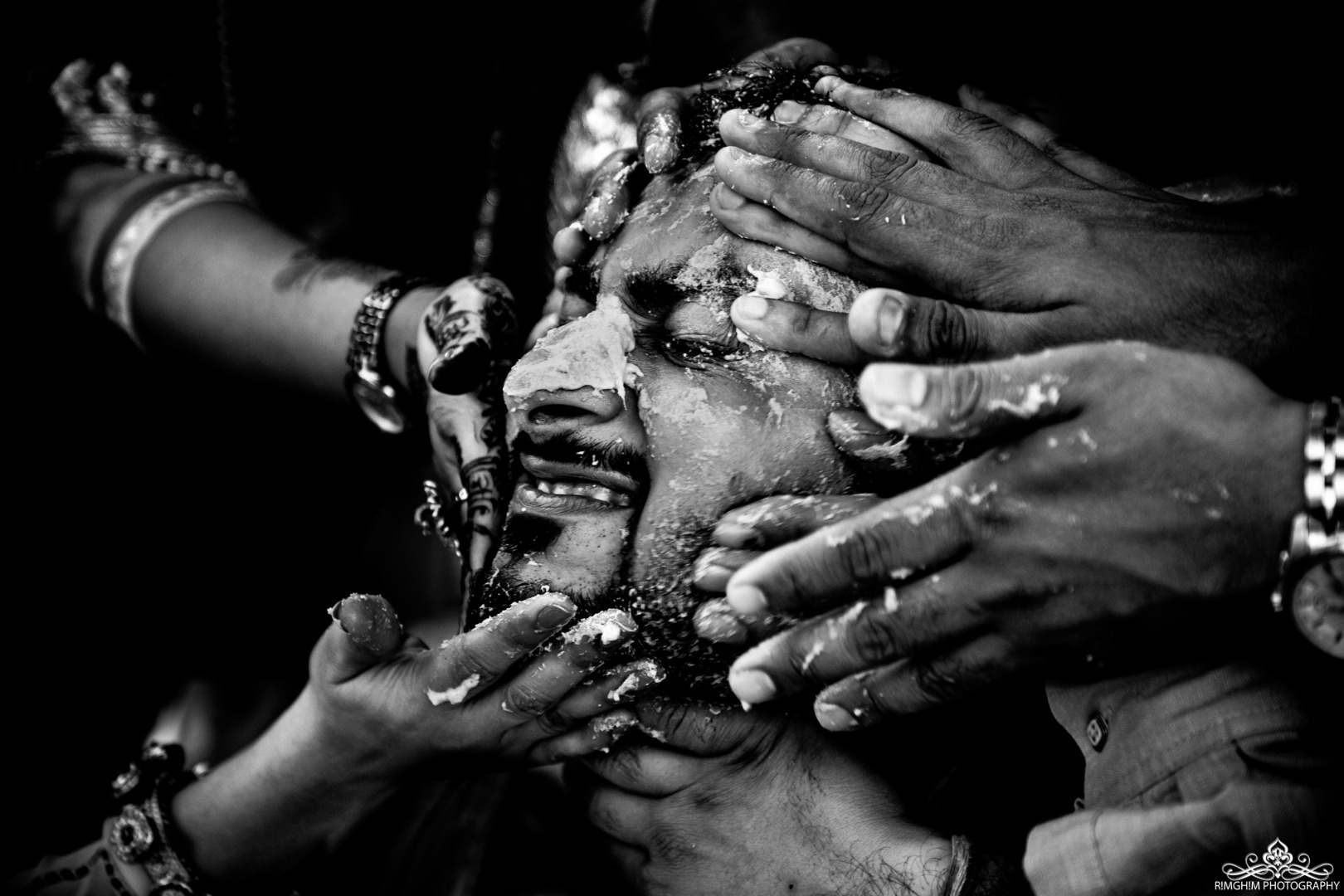 Black and White Aesthetic Haldi Images