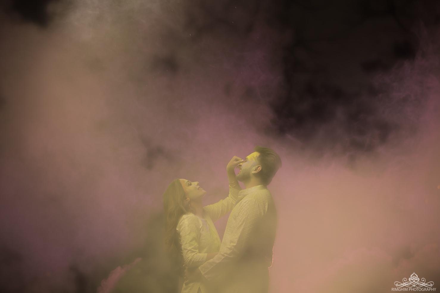 Holi Pre Wedding Shoot Concept