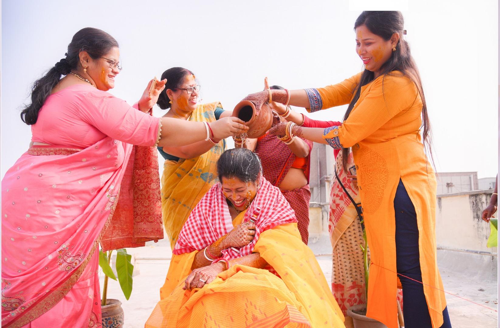 Fun during Haldi ceremony