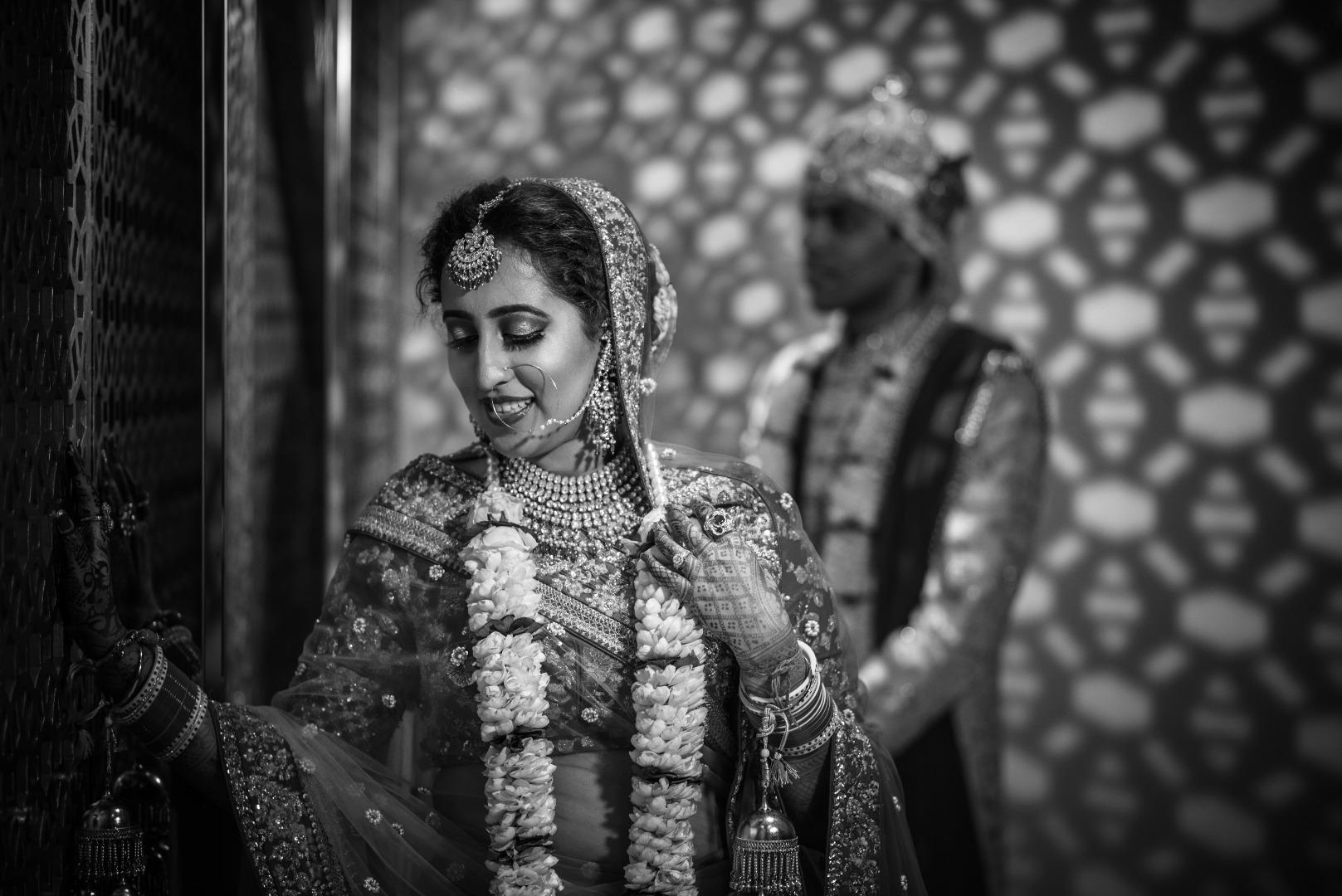 Black and white happy wedding photos
