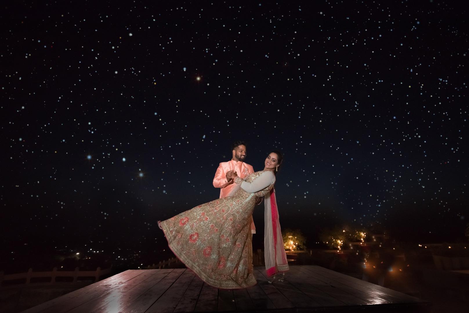 Pre-Wedding Shoot on a Starry Night