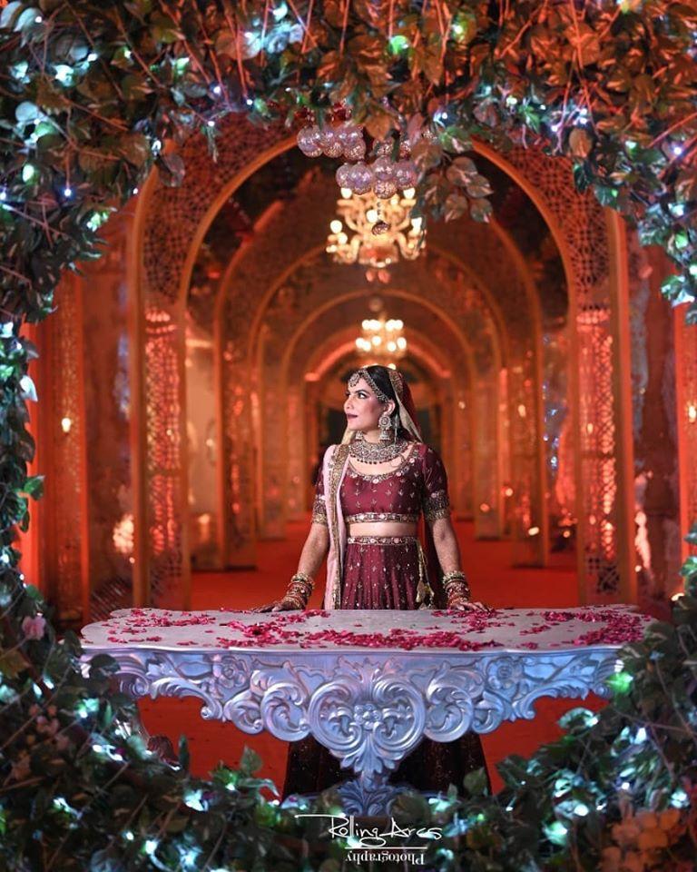 Red and Silver Bridal Lehenga