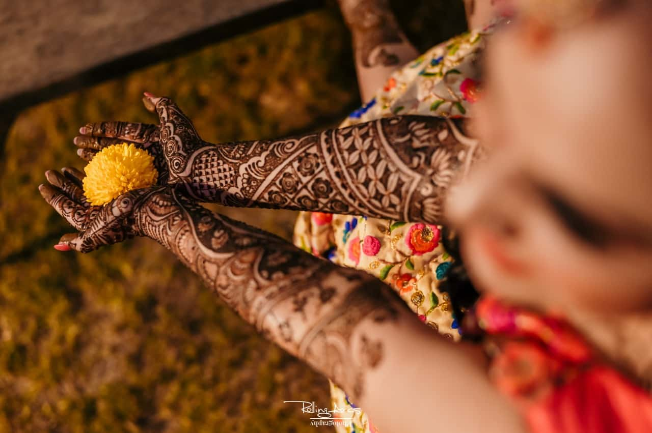 Heavy Mehndi Designs for Full arms
