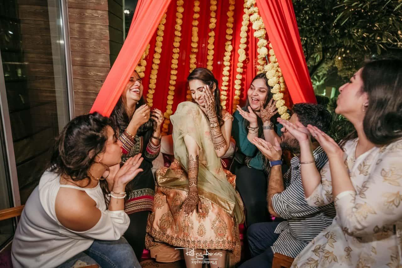 Candid Shot at Bridal Mehndi Ceremony